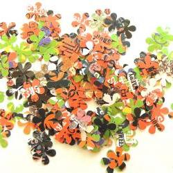Running Through The Daisy Fields - Grab Bag of Flowers - Set of 100 - Halloween Edition